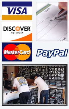 We Proudly Accept Visa, Discover, Master Card, Paypal, Checks and Cash